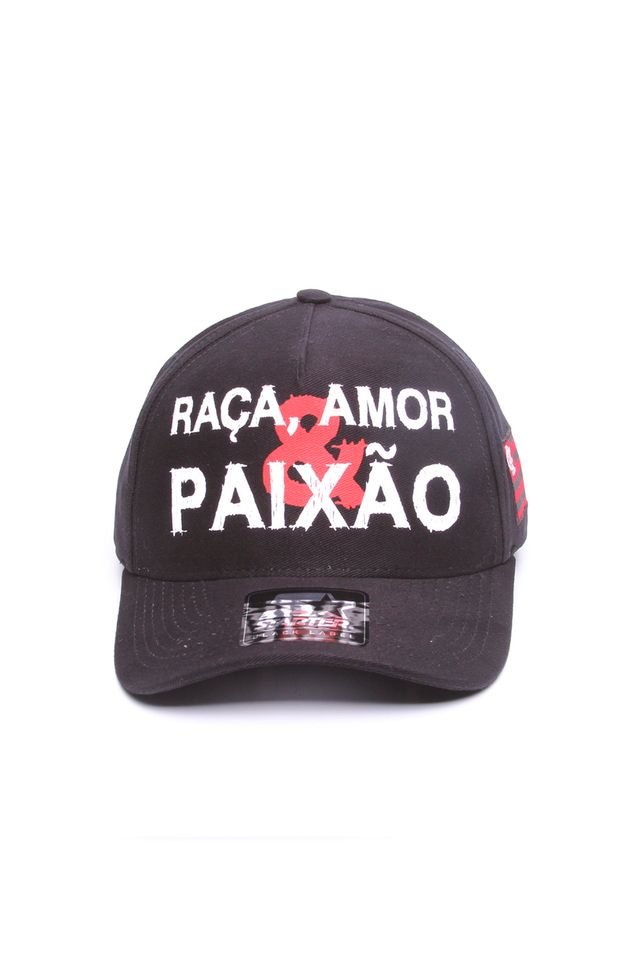 Bone-Starter-Aba-Curva-Snapback-Raca-Collab-Flamengo-Oficial-Preto