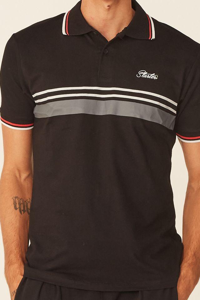 Camisa-Polo-Starter-Manga-Curta-Especial-Bicolor-Preta