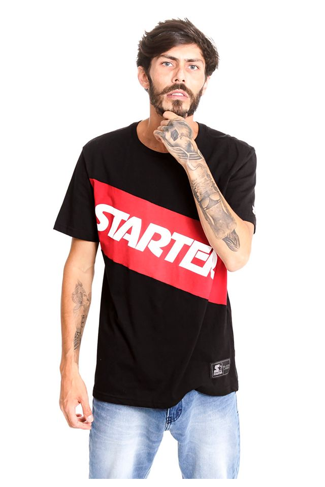 Camiseta-Starter-Especial-Estampada-Colors-Collection-Preta