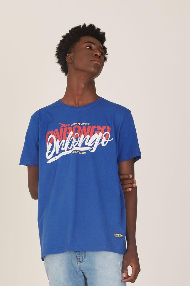Camiseta-Onbongo-Estampada-Azul-Royal