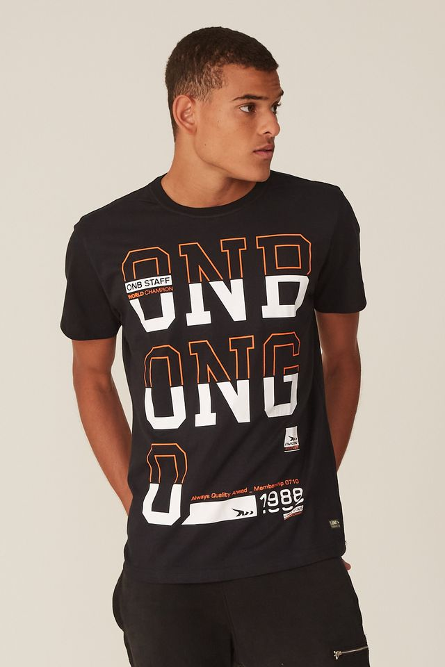 Camiseta-Onbongo-Estampada-Preta