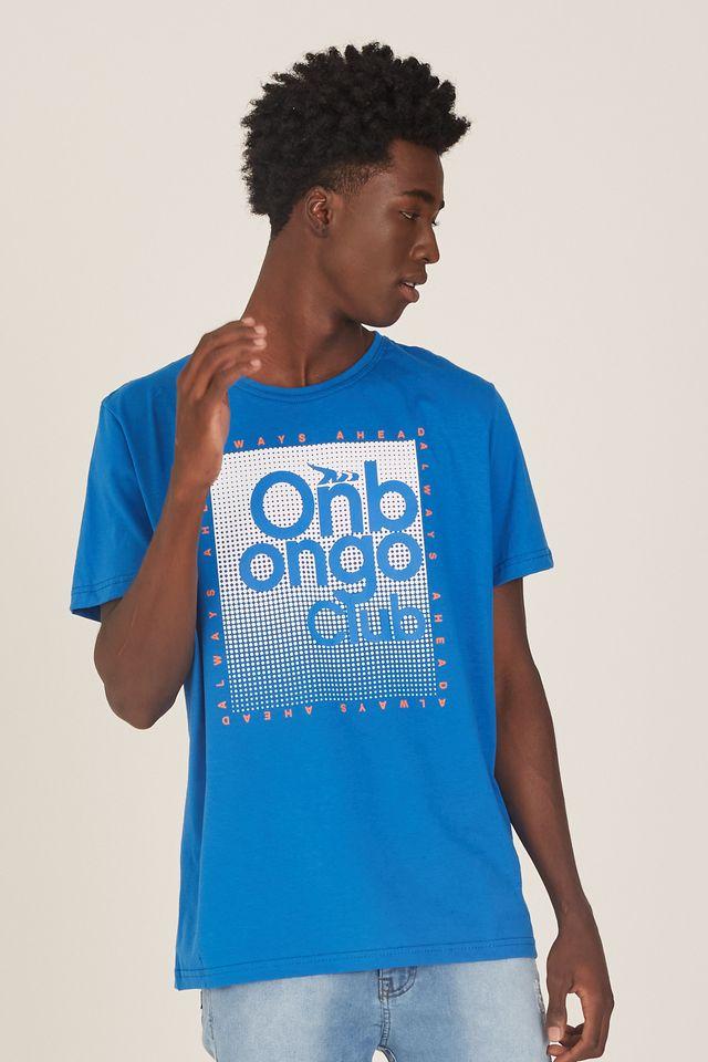 Camiseta-Onbongo-Estampada-Azul
