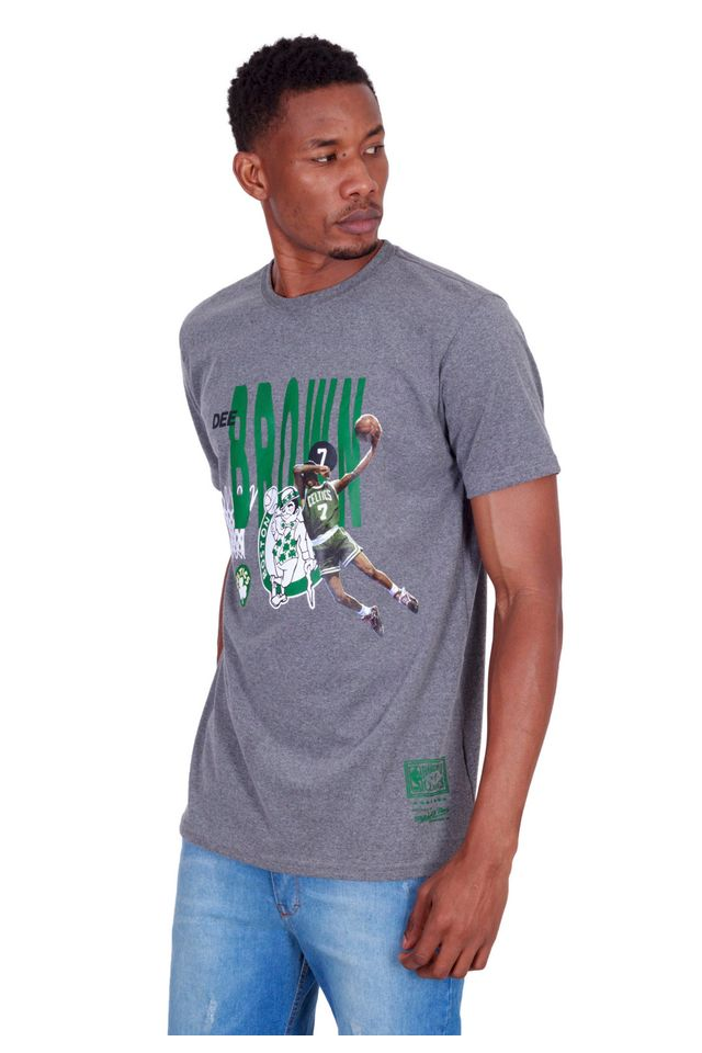Camiseta-Mitchell---Ness-Estampada-All-Star-Boston-Celtics-Dee-Brown-Cinza