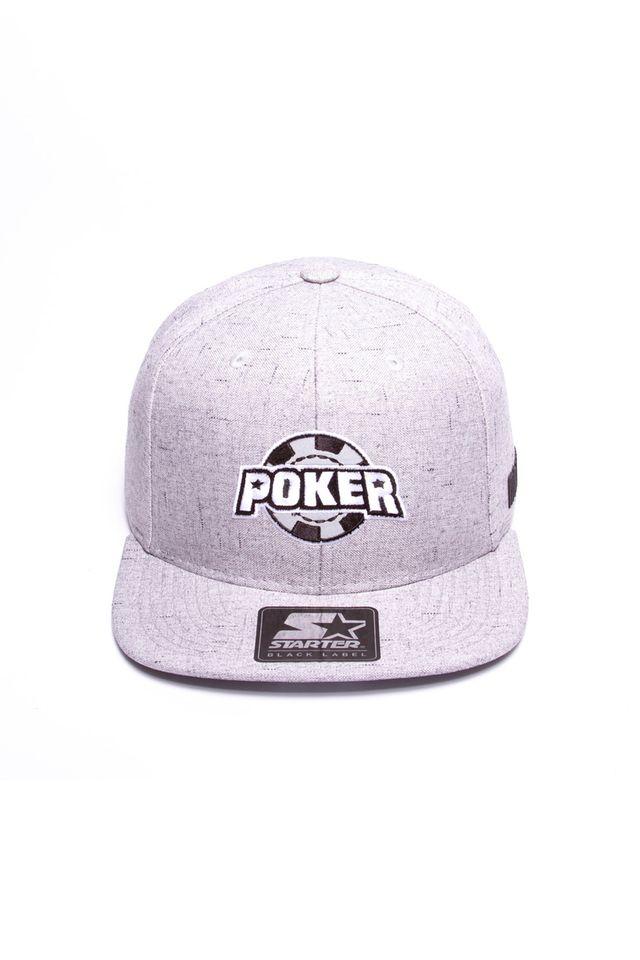Bone-Starter-Aba-Reta-Snapback-Poker-Cinza