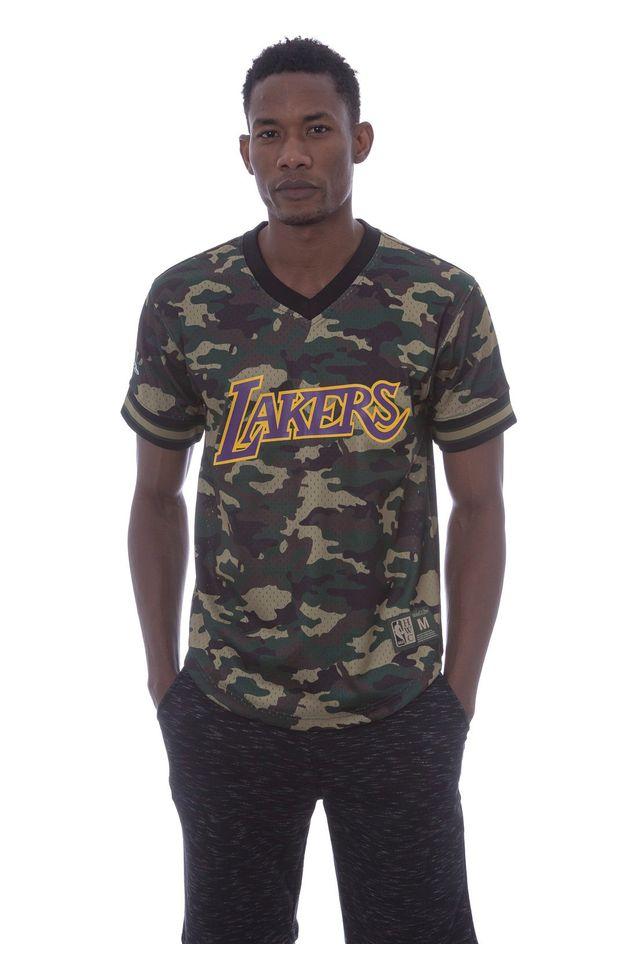 Camiseta-Mitchell---Ness-Swingman-Los-Angeles-Lakers-Camuflada