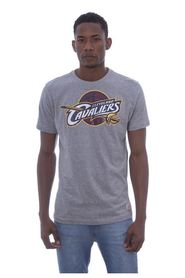 Camiseta-Mitchell---Ness-Estampada-Team-Golden-Cleveland-Cavaliers-Cinza