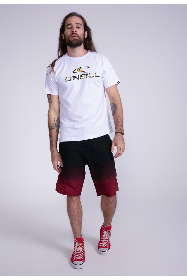 Camiseta-Oneill-Estampada-Resort-Branca