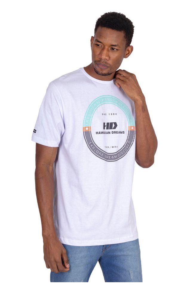 Camiseta-Hawaiian-Dreams-Estampada-Discover-Branca